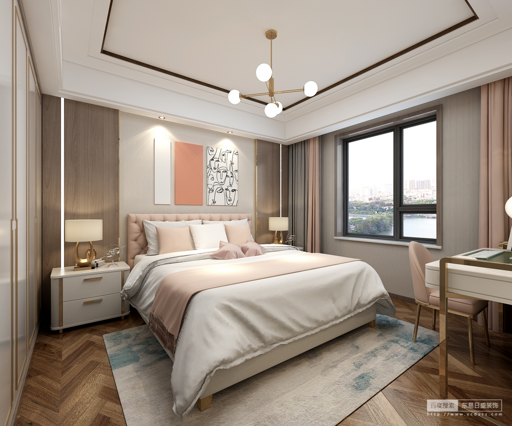 空间的舒 适与硬朗,最大化的让感受回归细腻,爱马仕橙充满戏剧性,浅灰的背景墙突出了整 体的突出性,柔和的家具线条选择又为这个空间融入了些许温润平和。