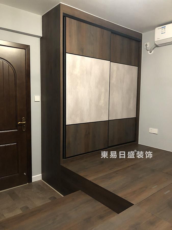 桂林悠山郡二居室90㎡現代北歐風格:客臥室衣柜裝修設計實景圖