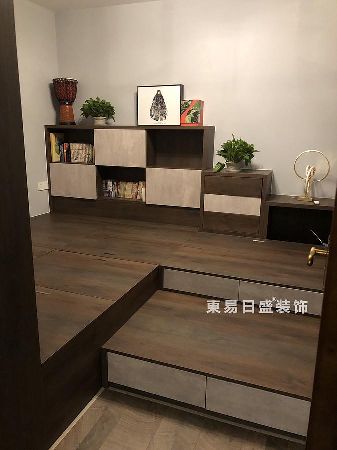 桂林悠山郡二居室90㎡现代北欧风格:客卧室入门装修设计实景图