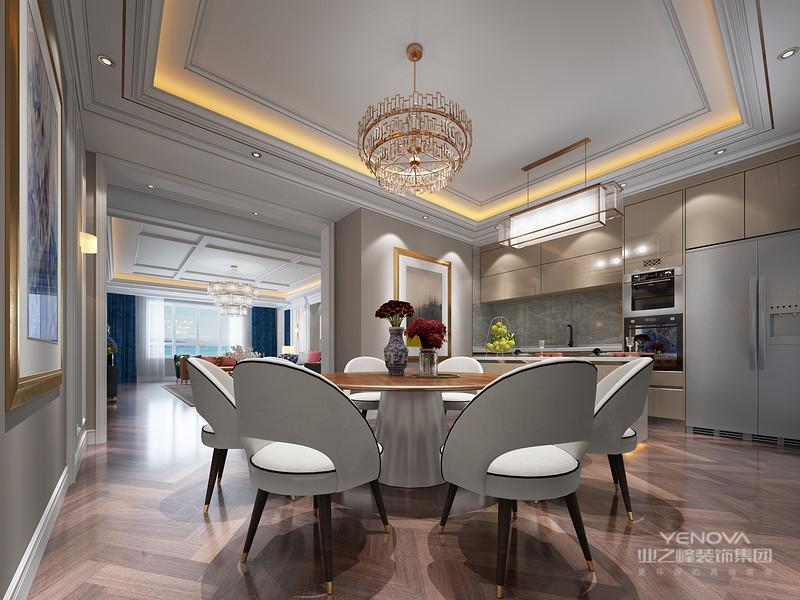 餐厨的开放式设计,最大限度的扩宽了整个视野空间