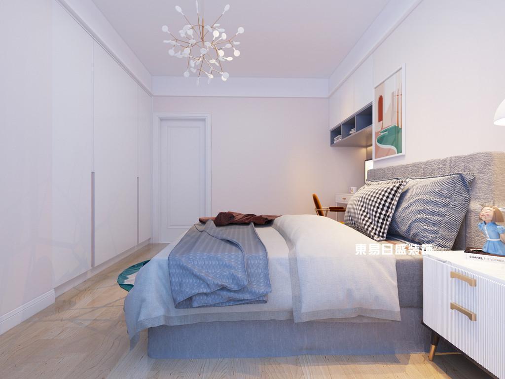 桂林信昌•棠棣之华三房两厅118㎡北欧装修风格:卧室装修设计效果图