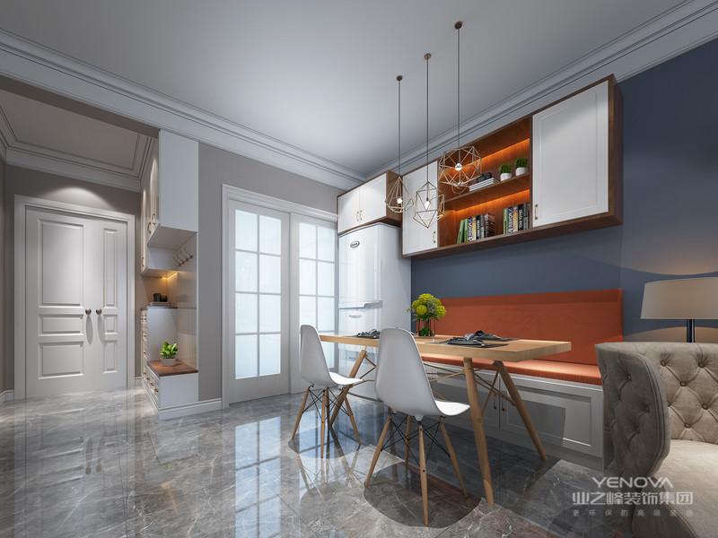 线条简练,设计简洁在色调上多选择中性色。而且家具产品完全不使用雕花、纹饰线条简洁、流畅,体现了宁静的北欧风情。