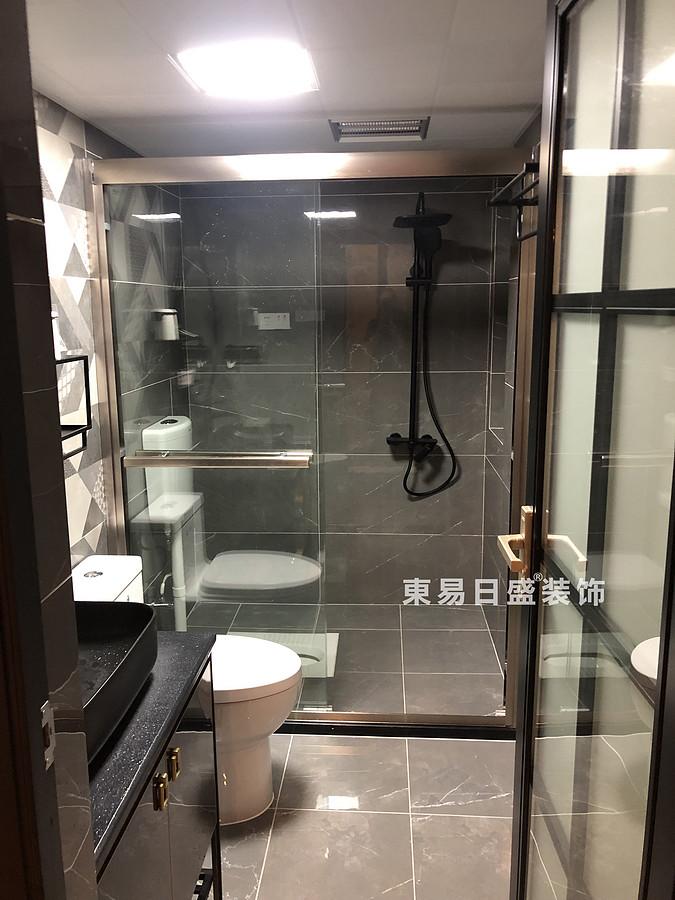 桂林悠山郡二居室90㎡现代北欧风格:卫生间装修设计实景图