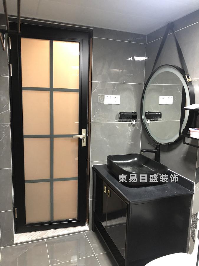 桂林悠山郡二居室90㎡現代北歐風格:洗漱臺裝修設計實景圖