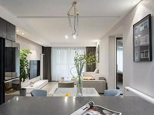 长风花园110㎡现代风格3室2厅效果图