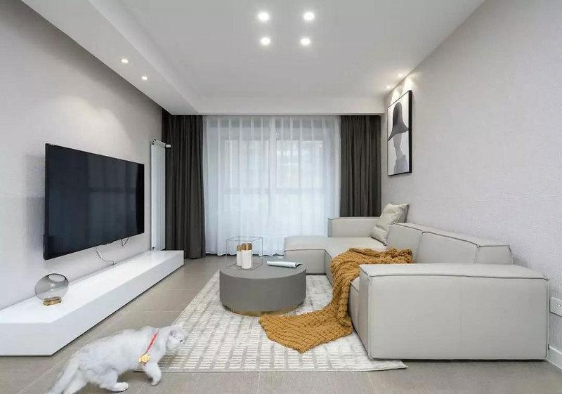 简洁利落的硬装基础,搭配色彩柔和的软装陈设,温柔而硬朗,为屋主打造安逸自在的生活空间。
