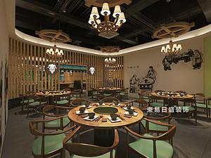 桂林牧羊人連鎖餐飲LOFT300㎡商鋪裝修設計案例