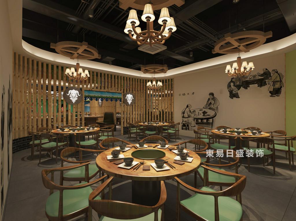 桂林牧羊人連鎖餐飲LOFT300㎡商鋪裝修設計案例:大眾就餐區裝修設計效果圖