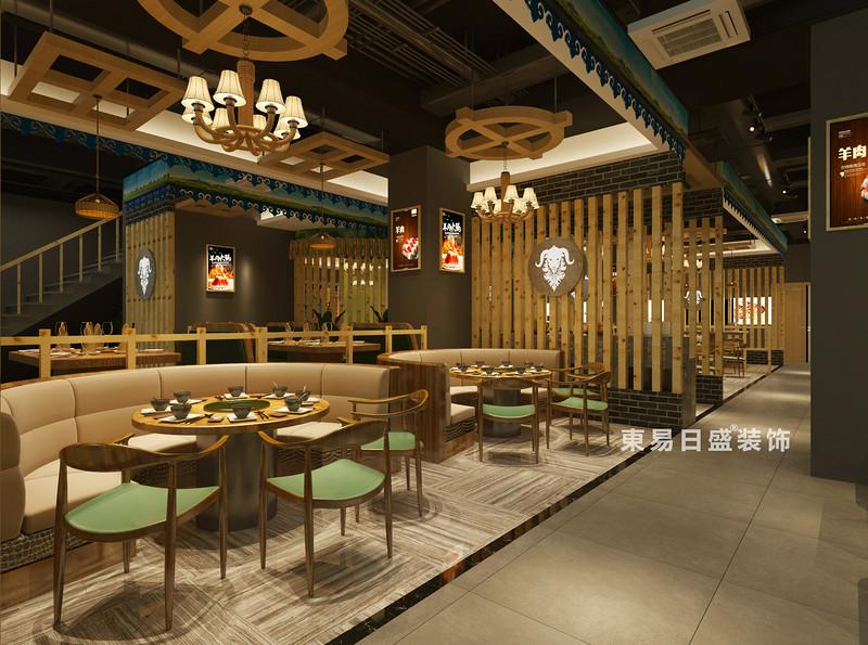 桂林牧羊人连锁餐饮LOFT300㎡商铺装修设计案例:开放就餐区装修设计效果图
