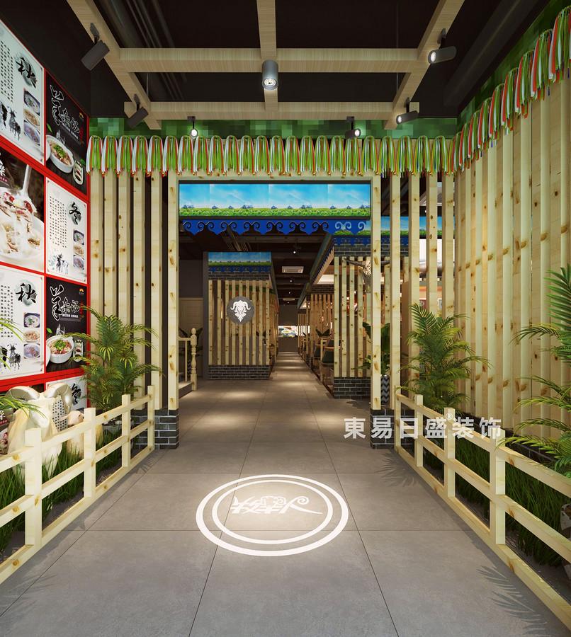 桂林牧羊人连锁餐饮LOFT300㎡商铺装修设计案例:过道装修设计效果图