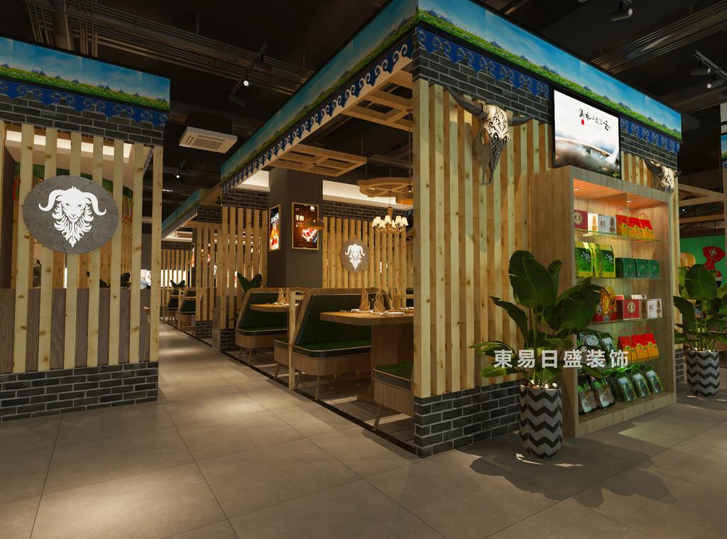 桂林牧羊人连锁餐饮LOFT300㎡商铺装修设计案例:小雅间装修设计效果图