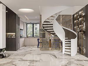 香城世家230平复式楼轻奢风格