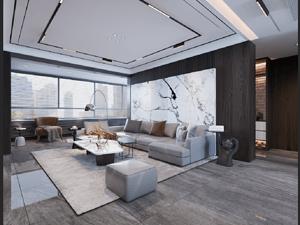 喜園-140平米三居室-后現代風格案例