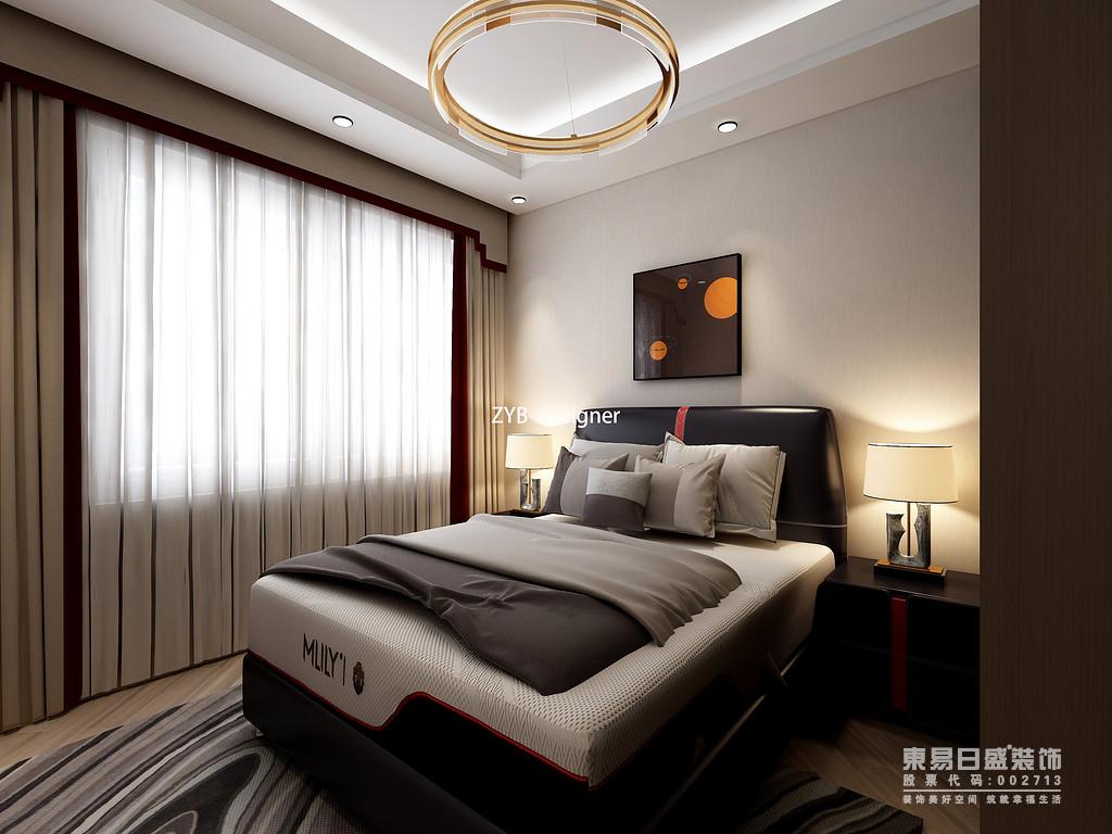 卧室的色彩以暖色为主,床的摆放也和整个空间结合的很好,且朝南的设计,不仅保障了冬暖夏凉这一明显优点,同时也保证了房间内空气的流通,因为通常卧室的使用频率较高,因此它的空间质量尤为重要