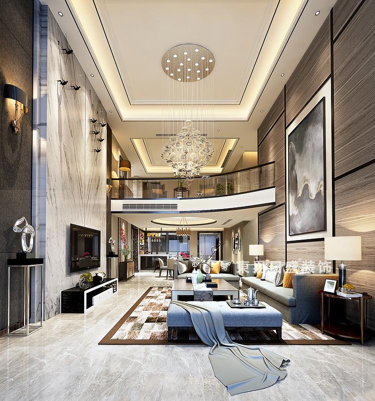 以深浅色调彰显空间的层次和质感,为居室渲染出清新、雅致的氛围;明媚的阳光,高挑的空间,黑灰色的木饰面,复式楼的透亮,没有绚丽的色彩,在素雅中提炼璀璨,在简洁中凝聚实用与品位。