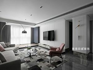 桂林江與城三居室135㎡現代裝修風格