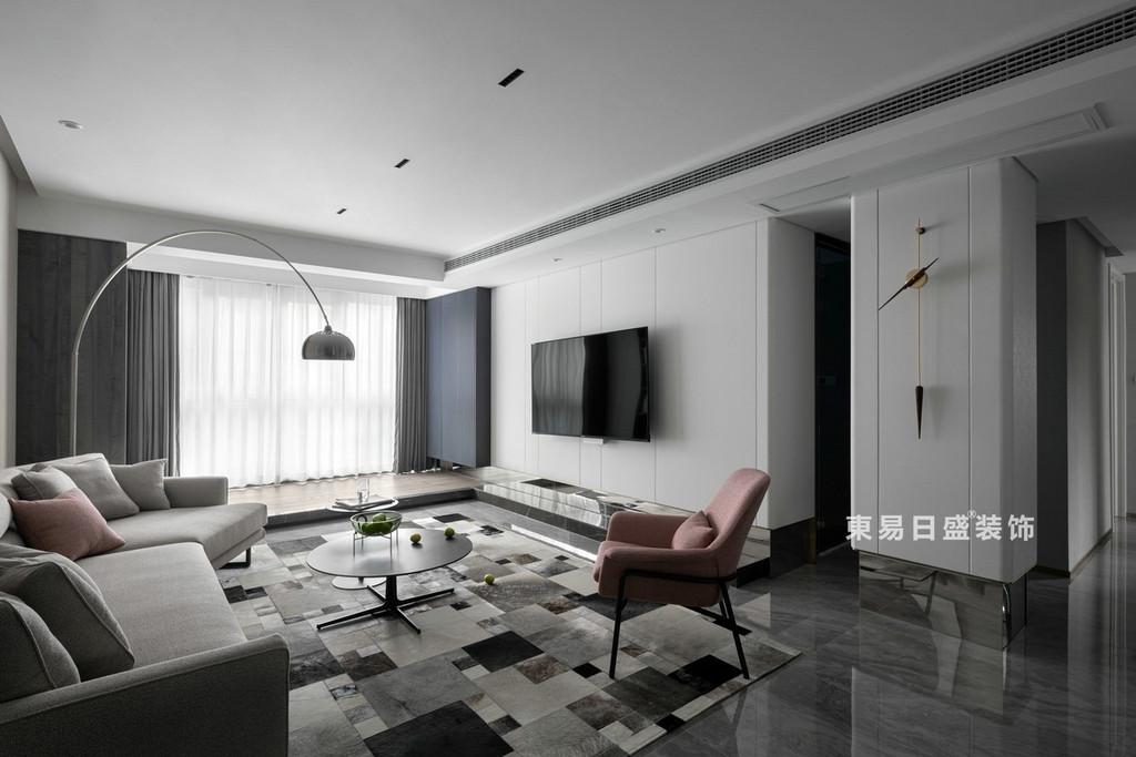 桂林江与城三居室135㎡现代风格:客厅装修设计效果图