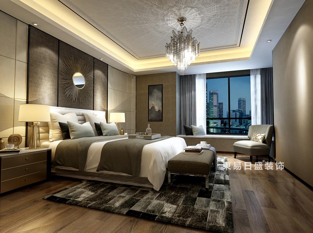桂林国惠村复式楼385㎡现代混搭风格:主卧室装修设计效果图
