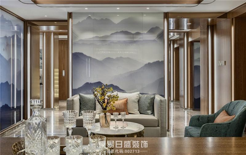 临沂家装公司中式风格-客厅