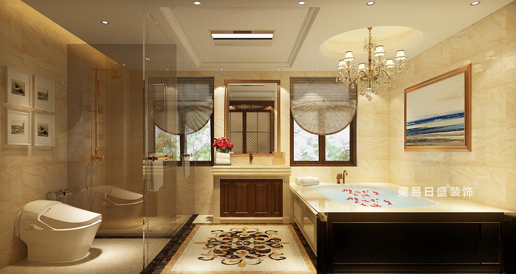 桂林信和信•原乡墅别墅600㎡古典欧式风格:主卫生间装修设计效果图