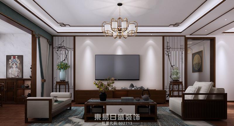 临沂家庭装修中式风格-客厅