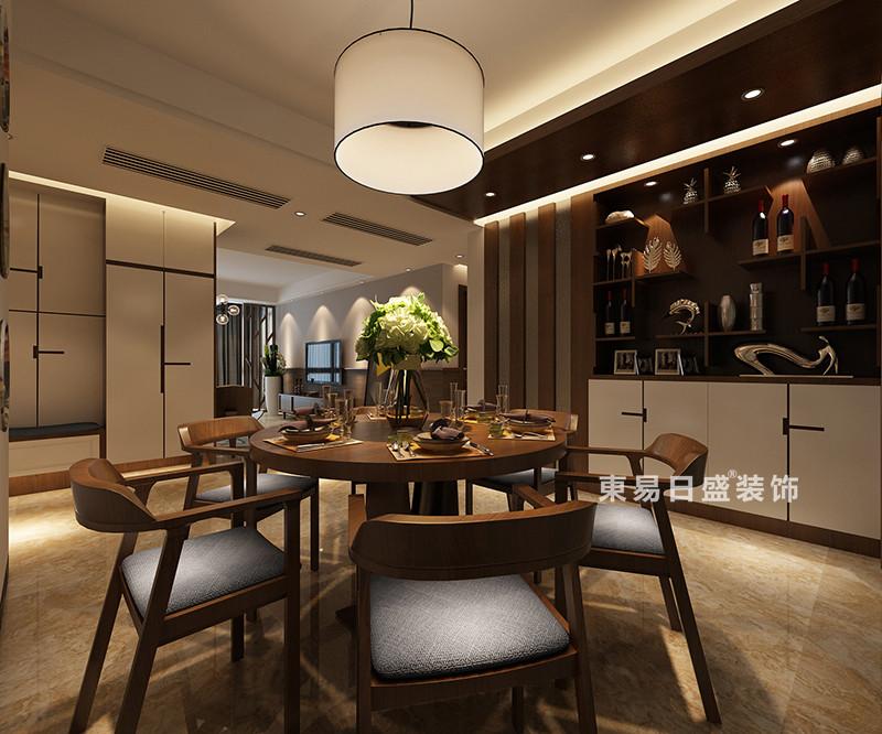桂林冠泰•城国四居室150㎡现代风格:餐厅装修设计效果图