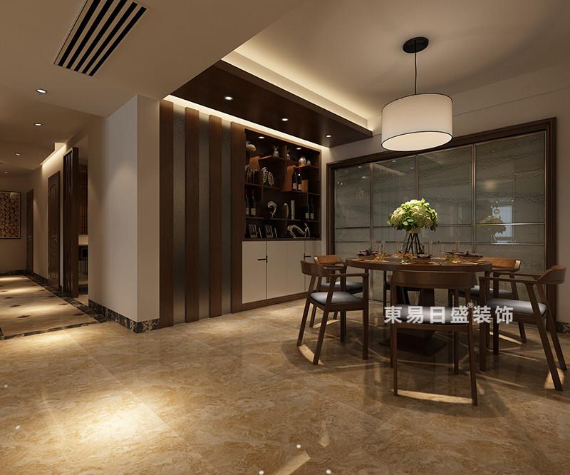 桂林冠泰•城国四居室150㎡现代风格:餐厅过道装修设计效果图