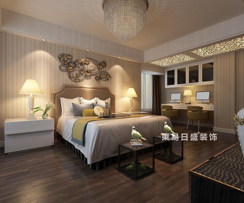 桂林冠泰•城国四居室150㎡现代风格:主卧室装修设计效果图