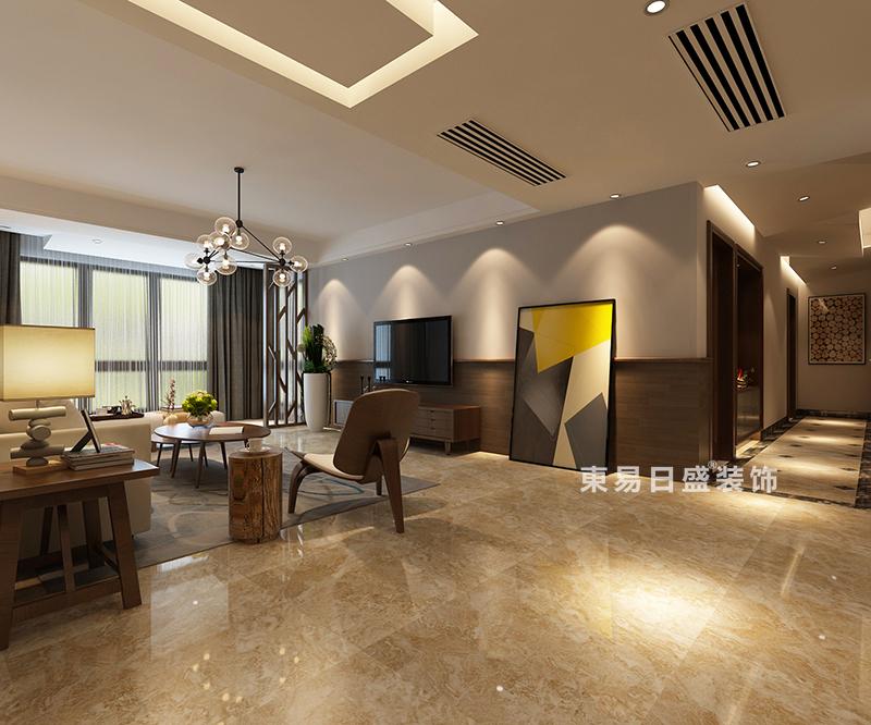 桂林冠泰•城国四居室150㎡现代风格:客厅入门装修设计效果图
