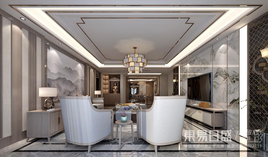 为了给居室增添几分暖意,饰以精巧的灯具和雅致的挂画,使整个居室在浓浓古韵中渗透了几许现代气息。