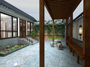 新中式风格外景装修效果图