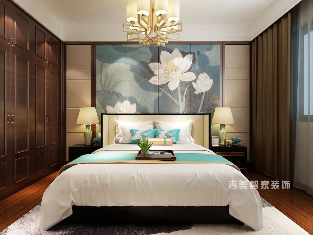 泰安紫荆城-新中式-卧室