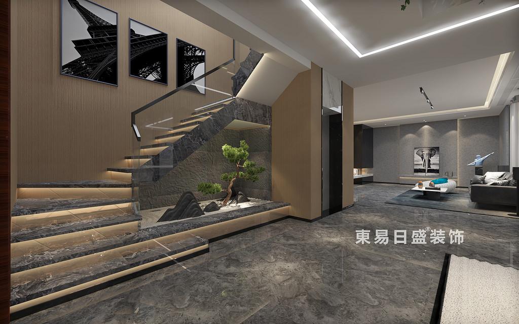 桂林广源•栖山墅别墅350㎡现代简约风格:楼梯装修设计效果图