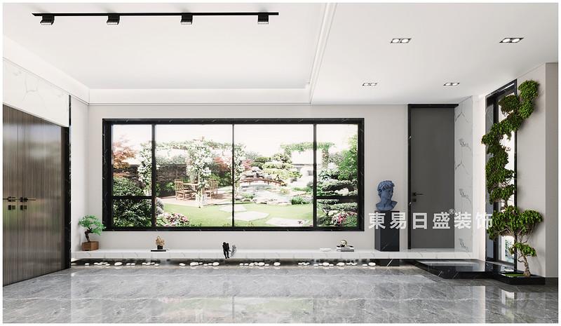 桂林廣源?棲山墅別墅350㎡現代簡約風格:客廳裝修設計效果圖