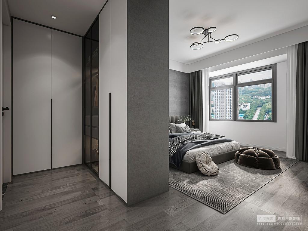 北面休闲阳台,楼下风景姣好,打造休闲一角,惬意且盎然。灰色墙面与对面补充台面白色瓷砖,相辅相成。