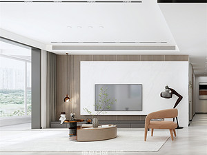 正宇龙港-157平米三居室-现代简约风格案例赏析