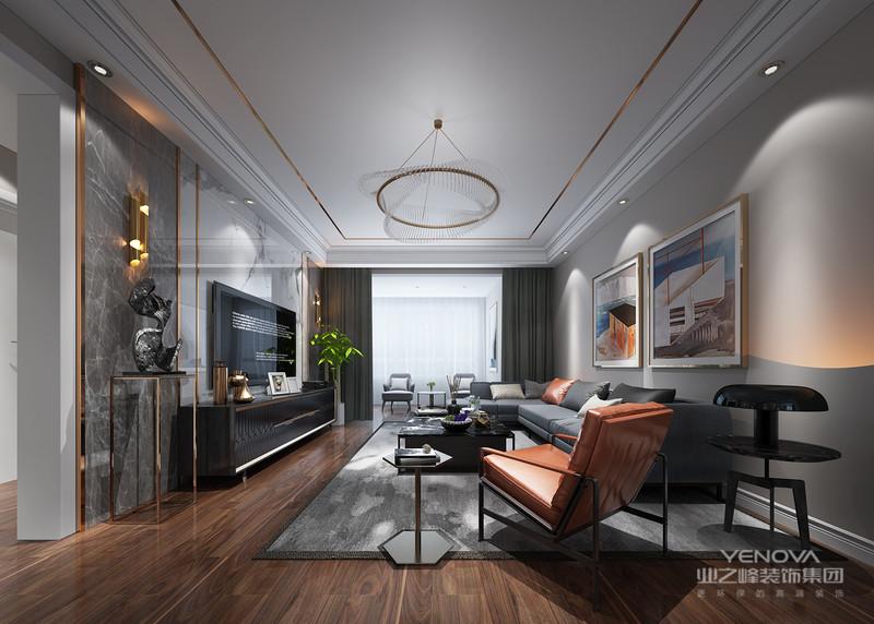 现代轻奢风格比较常见的材质有:大理石、黄铜元素、丝绒、皮饰、瓷砖乃至木饰面等,一般这些材质都可经过巧妙的混搭与组合的,能够提高空间的奢华感