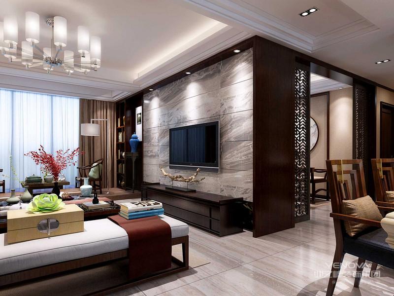 传统与现代居室风格的碰撞,设计师以现代的装饰手法和家具,结合古典中式的装饰元素,来呈现亦古亦今的空间氛围。