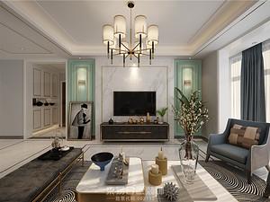 德居一品-157平米三居室-美式轻奢风格案例