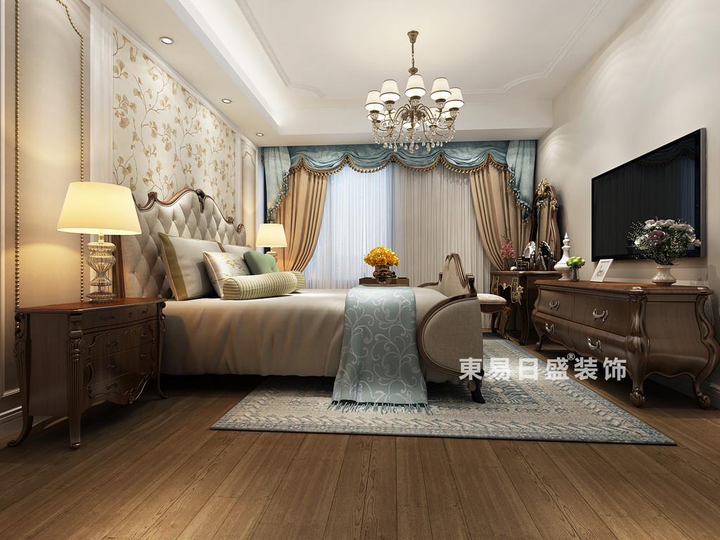 桂林彰泰•天街三居室120㎡欧式风格:主卧室装修设计效果图