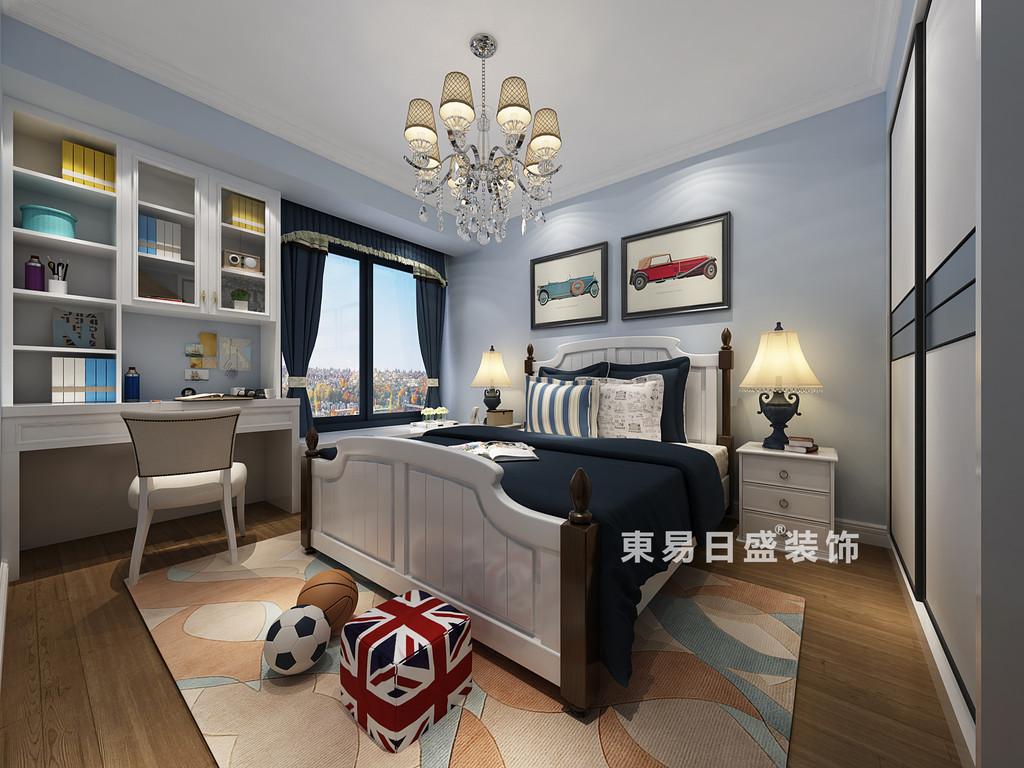 桂林彰泰•天街三居室120㎡欧式风格:男孩房装修设计效果图