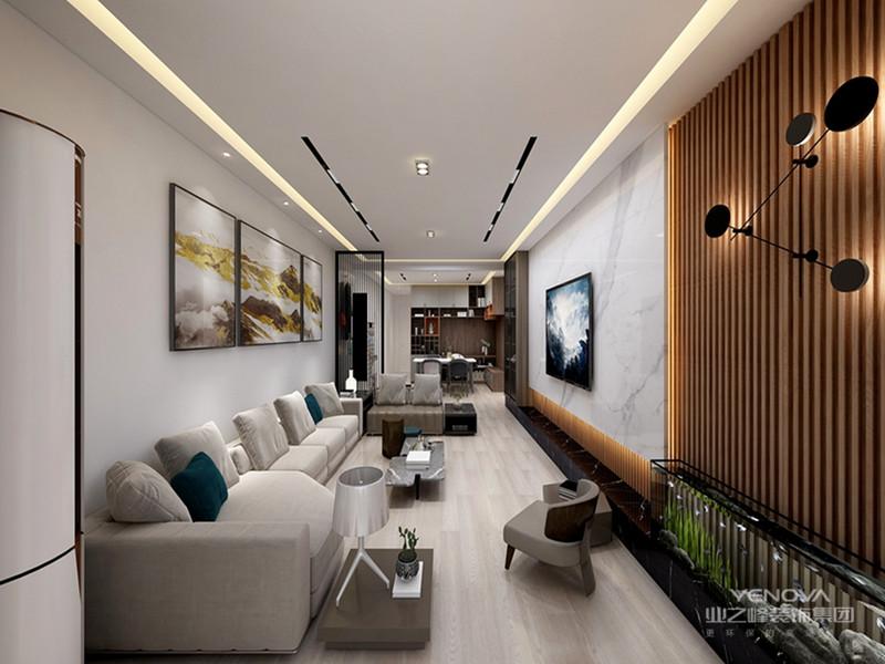 现代轻奢侈与色彩的运用形成了鲜明的对比,添加亮度较高的驼色、象牙白色等,温馨的氛围、时尚典雅的风格。