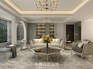奥正诚园-165平米三居室-美式轻奢风格案例