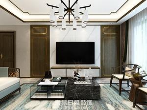 奧正誠園北區-220㎡四居室-帶有輕奢感的新中式風格案例