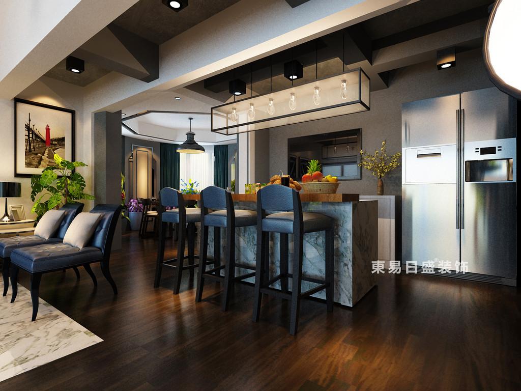 桂林鸿瑞•香格里拉花园复式楼300㎡现代风格:厨房装修设计效果图