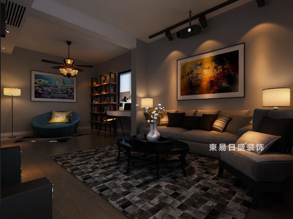 桂林鸿瑞•香格里拉花园复式楼300㎡现代风格:二楼休闲室/会客厅装修设计效果图