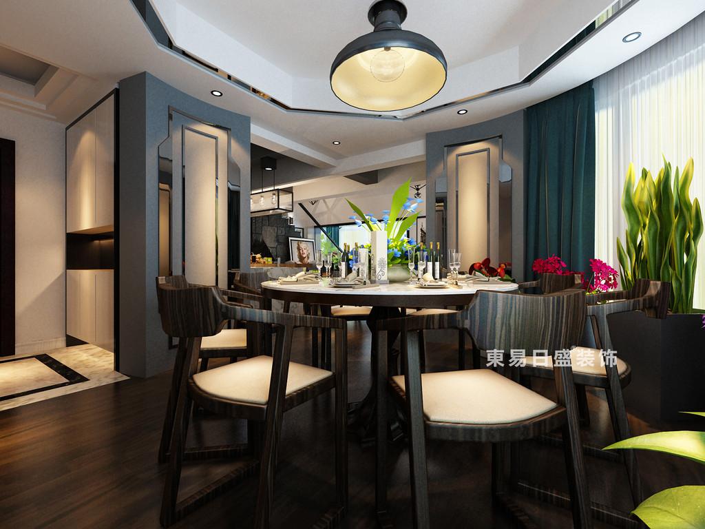桂林鸿瑞•香格里拉花园复式楼300㎡现代风格:餐厅装修设计效果图