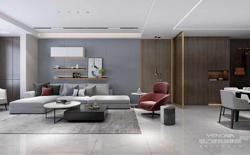 现代风格显得温馨舒适。奢华设计的目的是生活享受,这种享受除了满目所及的奢华视觉之外,满足于身心感受的奢华感也是至关重要的。