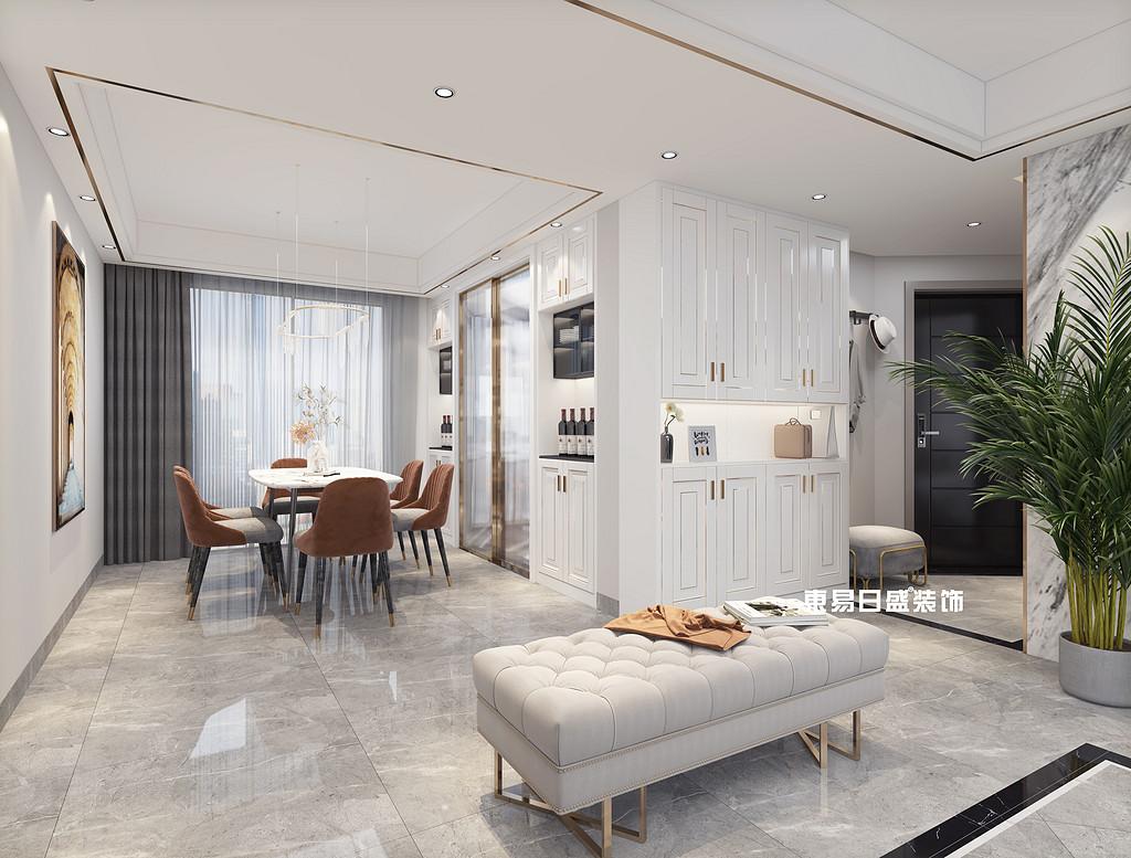 桂林彰泰•天街四房两厅136㎡现代装修风格:餐厅装修设计效果图