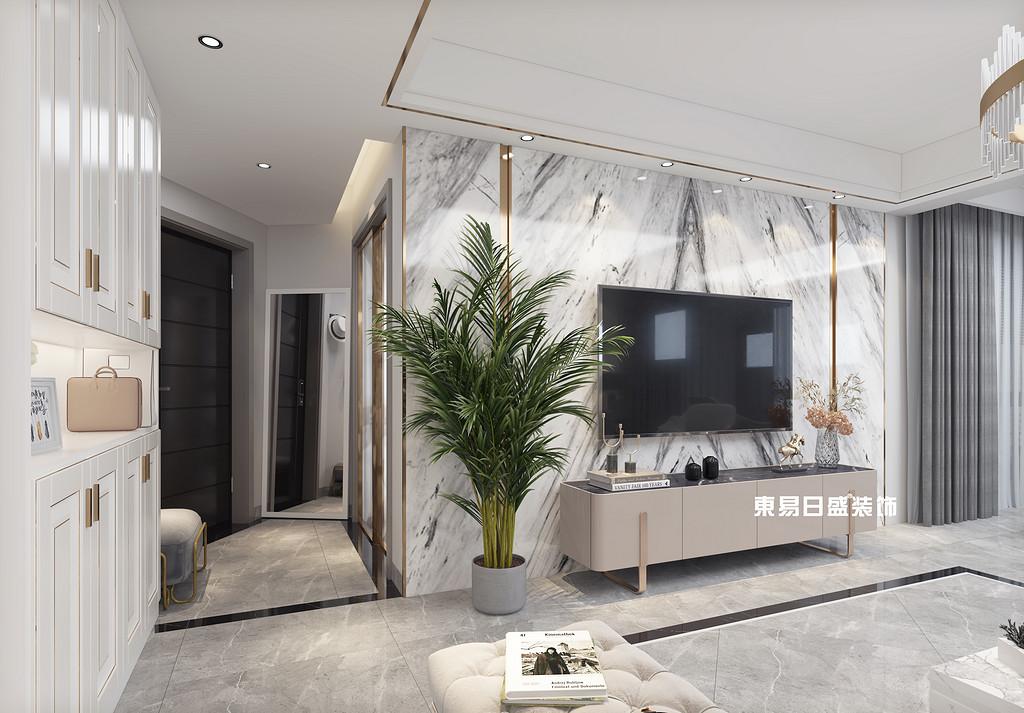 桂林彰泰•天街四房两厅136㎡现代装修风格:客厅过道装修设计效果图